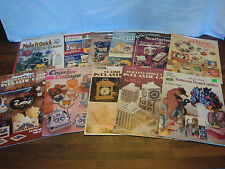 Large Lot of PLASTIC CANVAS BOOKLETS -Christmas, Tissue Covers, Home decor