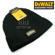 DeWalt Knitted Wool Hat DWC13001 Dewalt Workwear Black Woolly Winter Beanie Hat