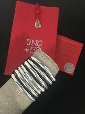 Uno De 50 Statement Leather and Silver Bracelet - NWT -  Tu Bi Molt - RARE CUFF