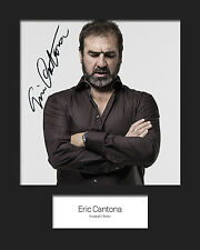 ERIC CANTONA #2 Signed 10x8 Mounted Photo Print - FREE DEL