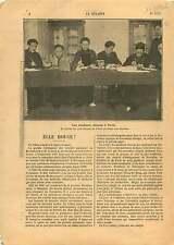 Etudiants de Chine Comité Club Chinois Paris la Sorbonne China 1906 ILLUSTRATION