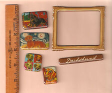 Dachshund Set of 6 Mini Magnets: Frame Name Plate LAST ONE!