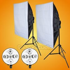Studio 5-Socket E27 Lamp Head 60x90cm Softbox Continuous Lighting Dual Light Kit