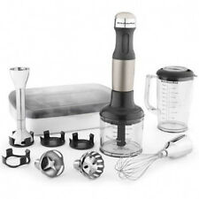 New KitchenAid KHB2561ob immersion Hand Blender 5-Speed Black Metal puree blend