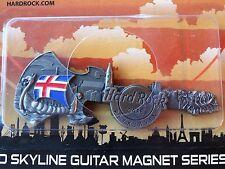 New! Hard Rock Cafe Iceland Reykjavik 3D Skyline Magnet Viking Flag Drakkar 2016