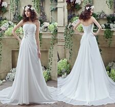 White /Ivory Sheath Lace Bridal Gown Wedding Dress In Stock 2 4 6 8 10 12 14 16