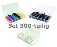 Assortimento XXL 300 pezzi schrumpfschlauch Nero + Colorato + Bianco Set con 3x BOX