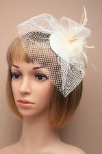 Grand clip bec crème mariages à chapeau Mesdames jour Course Royal Ascot