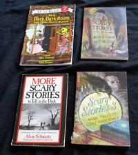 4 SCARY STORIES TO TELL IN THE DARK + MORE  TALES Children's Book Lot Schwartz