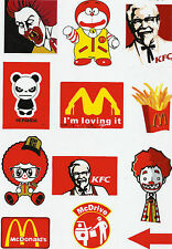 "Sticker-Set 12 coole Aufkleber ""Fast Food"" Ideal für Stickerbomb"