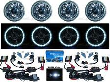 "5-3/4"" Projector SMD White LED Halo 6000K HID Bulb Metal Headlight Angel Eye Set"