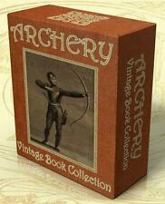 ARCHERY 37 Vintage Books on CD-Rom, Archers, Crossbow, Longbow, Bow and Arrow