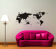 Large size World Map Wall Art Vinyl Decal Stickers Home Decor Removable Mural II