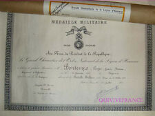 DIPLOME MEDAILLE MILITAIRE ADJT TIRAILLEURS MAROC 1954
