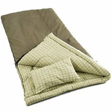 Coleman Camping Big Game 0-5°F Big & Tall Sleeping Bag w/ Cotton Flannel Pillow