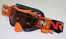 RIP N ROLL HYBRID FULLY LOADED GOGGLES MOTOCROSS MX ENDURO RnR NEW BLACK/ORANGE