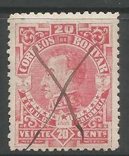 Colombia-bolivar. 1885. 20c Carmine, Perf 12. Sg: 49a. postally utilizado Pen Cancelar