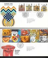 GREAT BRITAIN - COLLECTION OF 12 FIRST DAY COVERS FROM 1990 - INCLUDES #1313a