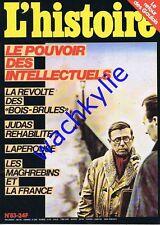 L'histoire n°83 - 11/1985 Judas Canada maghrébin Laperouse Sartre Camus Aron
