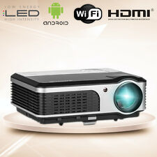 Android Wifi HD Ready LED Projector Smart Home Theater HDMI TV USB VGA Video