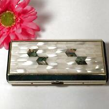 Vintage Mother of Pearl Abalone Sankyo Musical Cigarette Case
