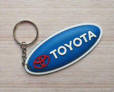 TOYOTA Keychain Rubber Motor Car Logo Blue Black Red Oval Keyring Gifts Cute