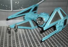 STAR WARS ACTION FLEET IMPERIAL TIE INTERCEPTOR W/ TIE PILOT & GEORGE LUCAS FIGS