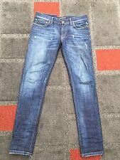 Dolce & Gabbana D&G Gold 14 Blue Jeans 46 W30-W32 L32 Slim Plaque RRP£360