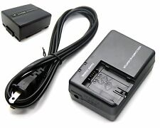 Battery + Charger for Panasonic VDR-D200 VDR-D210 VDR-D220 VDR-D230 VDR-D250