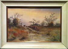 T.H. Wilkinson (Canadian) - Farm Scene - Framed Watercolour