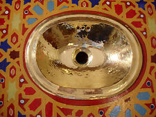In ottone molto piccolo Marocchino A MANO MARTELLATO Plain ovale lavandino lavabo