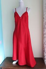 NEW size 12 LINEA Red Dress 100% Linen Strappy BNWT (168)