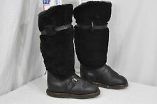 VINTAGE UNTY RUSSIAN OFFICER BOOTS 1980's tall sheepskin -40 temps mens 10.5-11