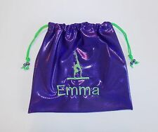 PERSONALIZED GRIP BAG w/ GYMNAST FIGURE-match to ur team gymnastics leotard gift