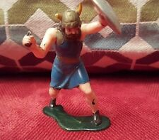 1950's-1960's VIKING WITH SHIELD AND KNIFE- HAND PAINTED SOLDIER