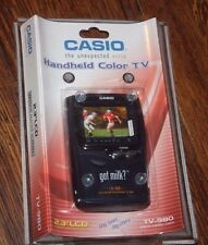 Casio New Handheld Portable TV Television 2.3 LCD MODEL TV-980 Sealed Promo