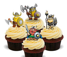 Viking Warriors Edible Cupcake Toppers, Standup Fairy Cake Decorations, Men Boys