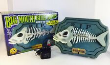 Big Mouth Billy Bones Sings Bad To The Bone Skeleton Bass Fish w/ AC Adapter