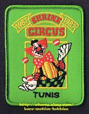 LMH PATCH Badge 1987 SHRINE CIRCUS  Shriners Clown Juggling  TUNIS Ottawa CANADA