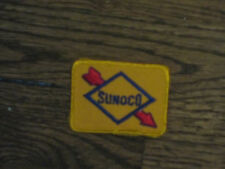sunoco  patch,70's,new old stock,  yellow  backround,rectangle