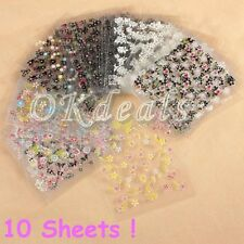 Decal Accessories Fashion Tips Manicure Nail Stickers Nail Decoration 3D DIY