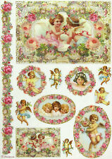 Ricepaper / Decoupage paper, Scrapbooking Sheets Garland with Angels