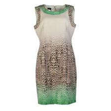 APANAGE Dress White, Brown & Green Leopard Print Size 40 / UK 14 LM 236