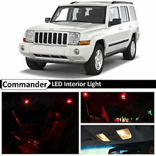 12x Red LED Lights Interior Package Kit 2006-2010 Jeep Commander
