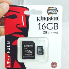 GENUINE KINGSTON 16 GB MICRO SD CARD SDHC CLASS 10 WITH ADAPTER MEMORY CARD 16G