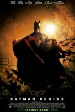 BATMAN BEGINS MOVIE POSTER DS 27x40 RARE International Style B CHRISTIAN BALE