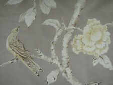 "ZOFFANY CURTAIN FABRIC DESIGN ""Woodville Silk "" 3 METRES SILVER 100% SILK"