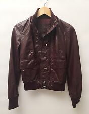 Bally Size 2 Ladies Brown Leather Lamb Skin Jacket