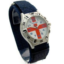Ravel Teens Mid-Size England Hook & Loop Sports Strap Watch - St George