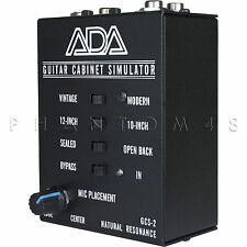 ADA Amplification GCS-2 Guitar Cabinet Speaker Simulator DI Direct Box GCS2 NEW